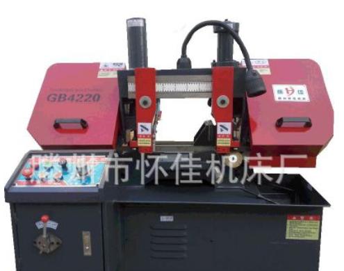 厂价批量销GB4220金属带锯床液压半自动钢筋带锯床双立柱卧式